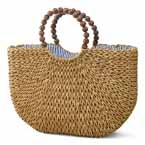 Seagrass Bag with Wooden Handle
